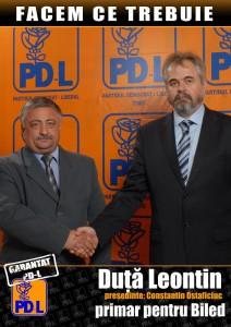 afis cu primarul Duta Leontin