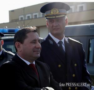 Comisarul şef Turda(d) alături de şeful IGPF