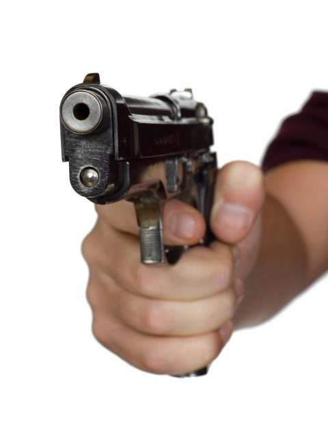 Pistol in hand