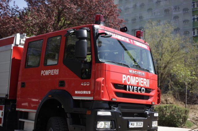 pompieri masina