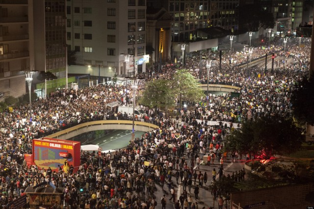 Demonstrators Stage Largest Street Protests In Two Decades