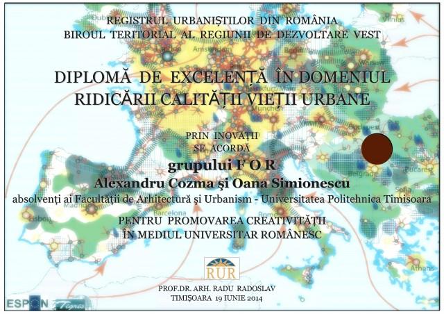 Diploma Excelenta FOR