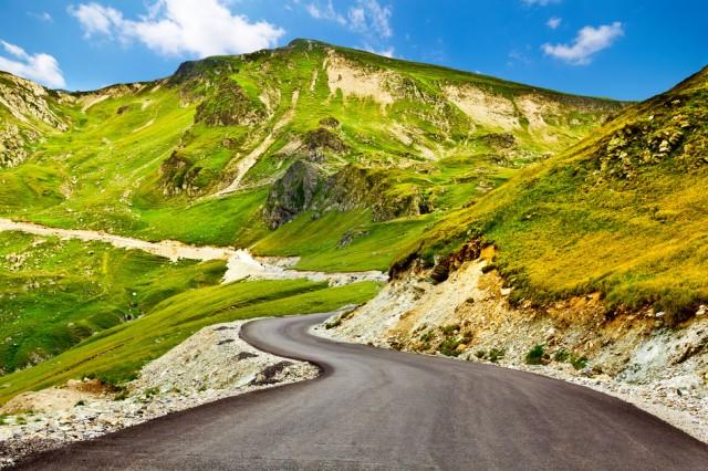 Transalpina winding road in Romania