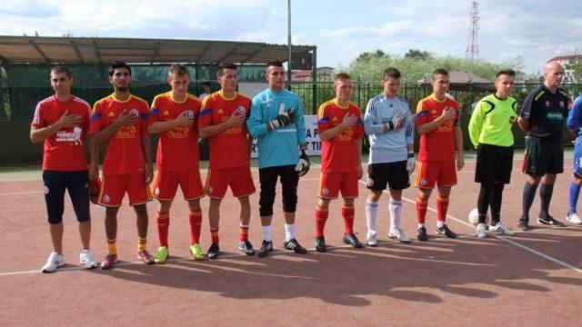 Romania-strada-12 fotbal în Piața Libertății