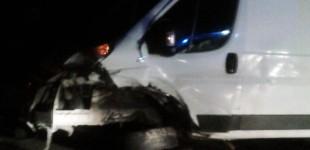 Accident cu două maşini avariate grav pe şoseaua Moraviţa – Timişoara