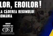 """Studenții timișoreni, invitați să se alăture Marșului pentru comemorarea Eroilor Revoluției """"pentru a demonstra că le pasă"""". Când are loc acțiunea"""