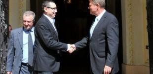 Klaus Iohannis şi Victor Ponta s-au întâlnit la Cotroceni. Principalele teme de discuţie