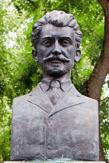 Rumänien - Arad - Büste Ioan Rusu Sirianu (1868-1909)