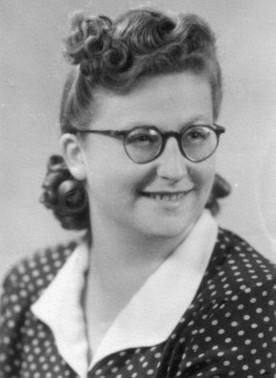 Mama rabinului, în timpul studenţiei
