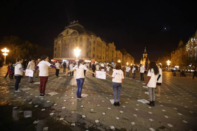 flashmob trafic de persoane