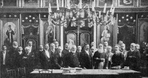 "Emanuil Ungureanu, cu ""Astra"" la Șimleul Silvaniei (1908)"
