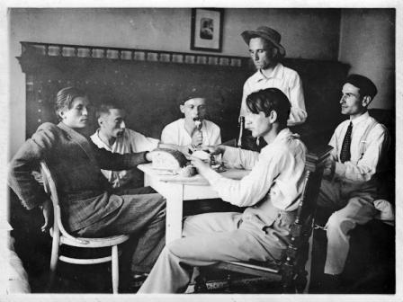 1. 1925-anastasie demian, catul bogdan, aurel ciupe si romul ladea la scoala de arte frumoase cluj