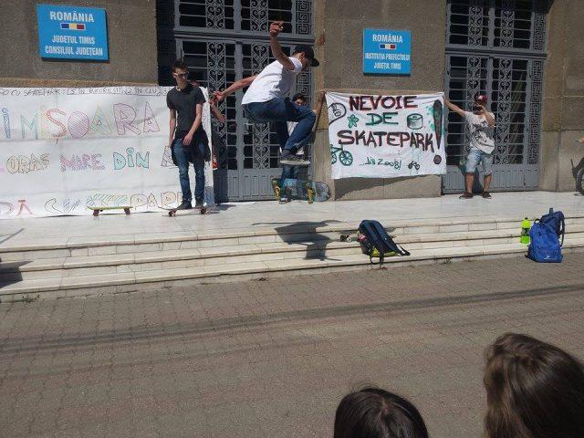 Protest pentru skatepark în Timișoara