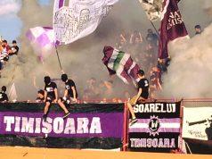 Susținătorii lui ASU Poli, show și la Cisnădie. Foto: Peluza Sud / Facebook