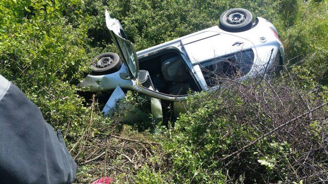 accident sacalaz beregsau masina rasturnata