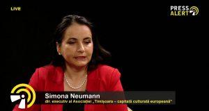 Simona Neumann, directorul executiv al Asociației Timișoara Capitală Culturală Europeană pressalert live