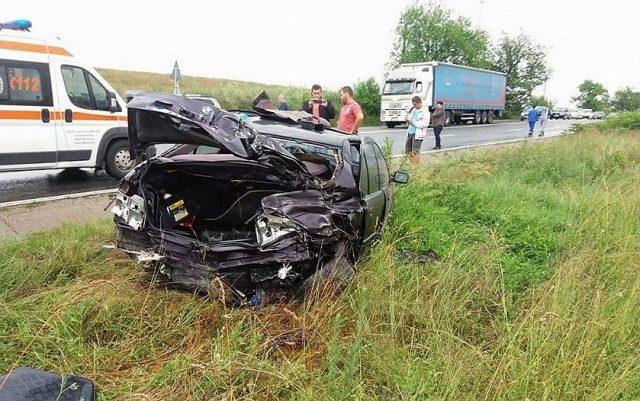 accident bmw tir vinga