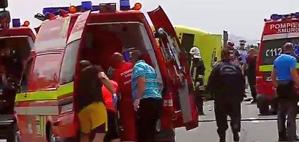 accident grav brasov autocar