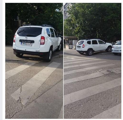 Vicepreşedintele CJT, Traian Stancu, a parcat pe trotuar