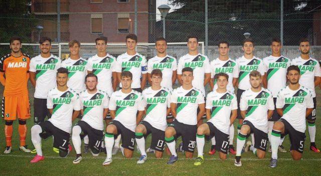 Marius Marin, stânga jos, la echipa de tineret a lui Sassuolo