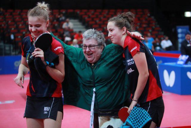 Adina Diaconu și Andreea Dragoman. Foto: Remy Gros / ittf.com