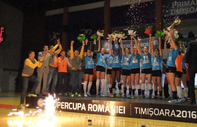 CSM Târgoviște, prima câștigătoare a Supercupei României la volei feminin
