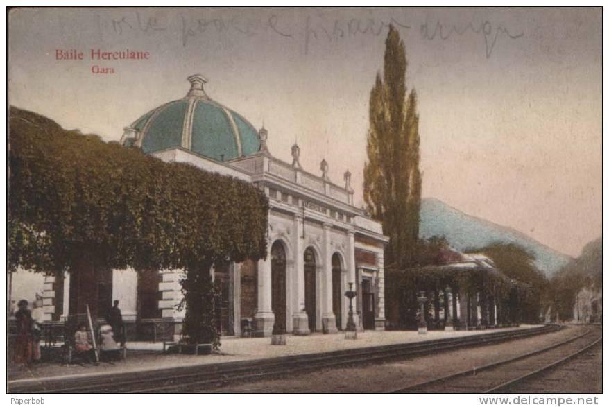 Gara de POVESTE din Băile Herculane, locul plin de legende și secrete al împăratului Franz Iosif al Austriei. Ce mai puteți vizita în zonă FOTO