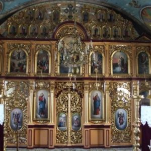 Iconostasul bisericii din Sebeș pictată de Ioan Zaicu
