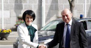 Roxana Iliescu și Traian Băsescu
