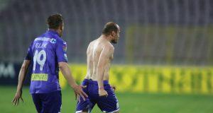 Dan Popescu se bucură după golul de 2-1 marcat cu CSU Craiova. Foto: Adrian Pîclișan