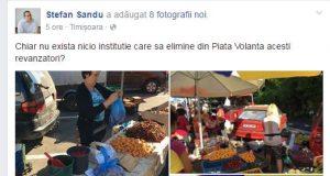 Consilierul local PNL Sandu Ştefan se plânge pe Facebook de samsarii din pieţe