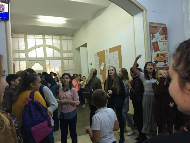protest elevi