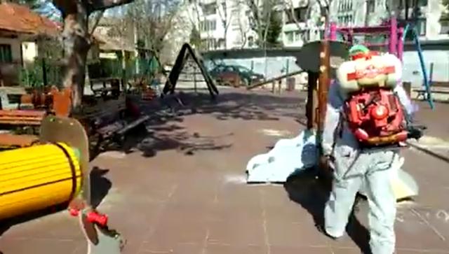 dezinfectare locuri de joaca